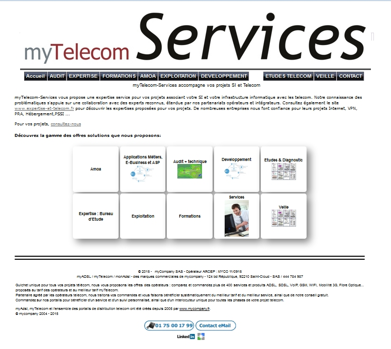 myTelecom Services : expertise, infogérance, audit, formation